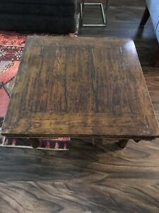 Real wood distressed coffee table