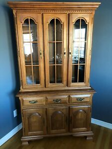Solid Rock Maple Dining Room -buffet, hutch, table and chairs