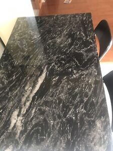Marble Steel and wood kitchen  table/island