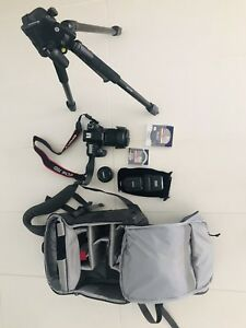 Canon 70D 18-135 mm & Canon 50mm lens in mint condition.