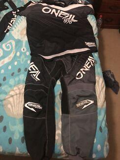 Mx gear helmet jersey and pants used twice