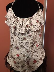 womans size small dressy tops/romper with shorts/ROXY/ARDENE!!