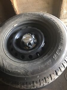 Winter tires  and rims Dunlop 265/70/r17
