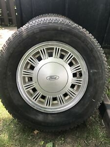 Set of wheels and tires from 89 Ford Mustang