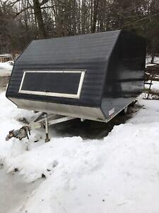 Enclosed 2 sled trailer 2014