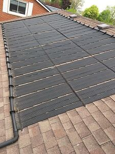 Pool solar heating system,