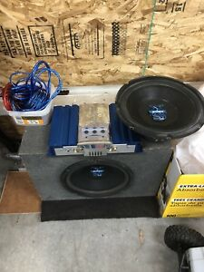 "2 Jensen 10"" & 1 12"" Sub and 200w Amp"