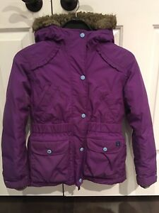 Lands' End girls winter jacket & snow pants - size 6/7/8 +boots