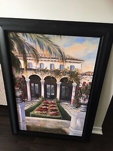 Pier 1 wall frame oil picture