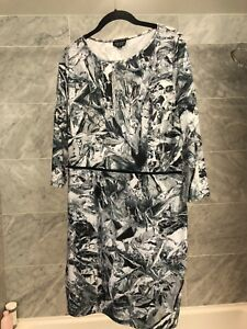 TopShop Patterned Dress with Functioning Zipper