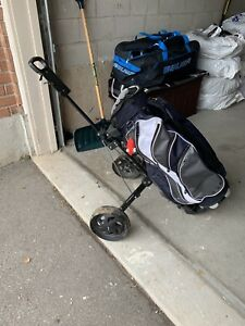 Golf bad and pull cart