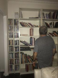 IKEA white bookcases x 3