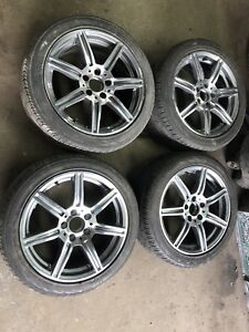 """Mercedes-Benz  Audi vw mag wheels with summer tires 17"""""""