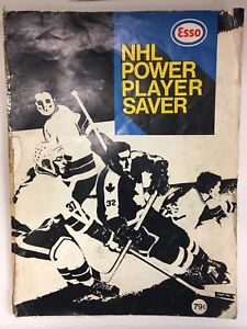 1970-71 NHL Power Player Stamps in booklet