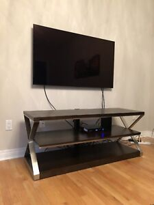 "Whalen 60"" wood & chrome tv stand"