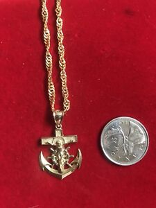 Anchor and Jesus pendant and chain set