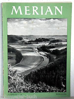Zeitschrift Merian WERRALAND - 4. Jahrgang /12 - 1952
