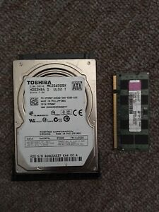 """2GB Sodimm DDR2 RAM Chip + Toshiba 250GB 2.5"""" HDD"""