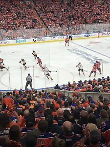 Oilers individual games for 2017-2018 lower bowl w/drink rail