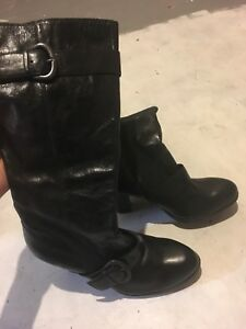 Size 7.5 leather boots brand new