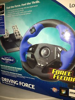 Logitech Force Feedback steering wheel works with PS3
