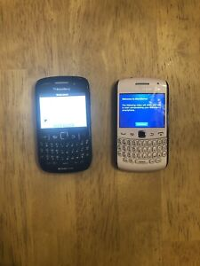 2 BlackBerry Curves w/ two cases