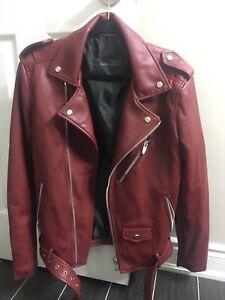 Zara men faux leather jacket