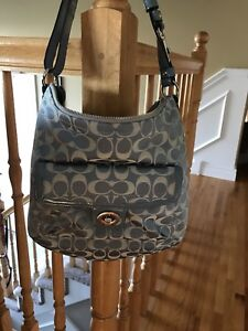 Older Style Blue Coach Purse-Brand New Condition