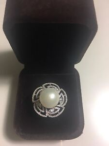 New Pearl Cocktail Ring- perfect valentines gift