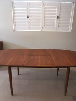 parker dining table brisbane. retro parker style extendable table parker dining table brisbane