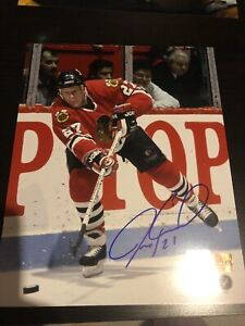 Chicago Blackhawks Jermey Roenick Autographed picture