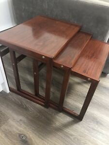 Mid Century Modern Rosewood Nesting tables