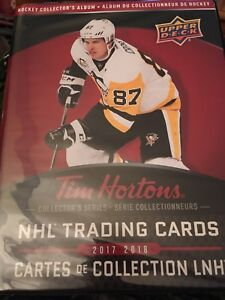 Tim Horton's Hockey cards for trade from 2015 to 2018