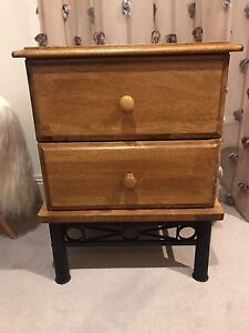 Bedside table wooden Pennant Hills Hornsby Area Preview