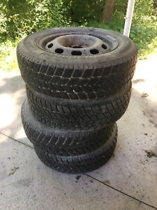 VOLKSWAGEN JETTA SNOW TIRES ON RIMS 195/65 R15