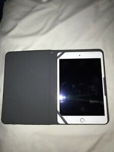 iPad Mini 3 Gold With Case and Screen Protector
