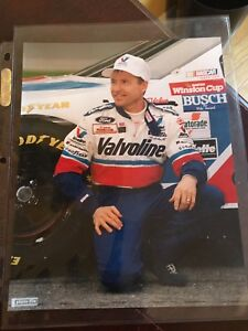 Mark Martin autographed cards, sheet metal, picture