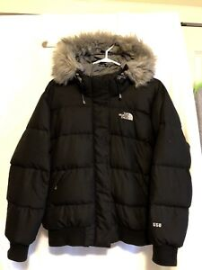 5c35f8f495d2 Women s Large Black North Face Down-fill Puffer Jacket