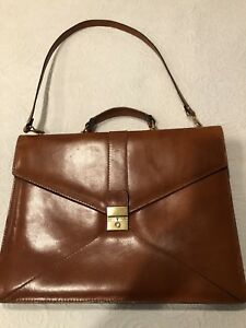 New leather computer/briefcase