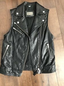 Authentic mackage leather vest