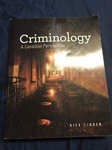 Criminology- A Canadian Perspective