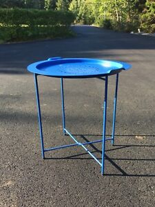 Metal patio side table, new