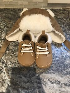 0-6 Months Hat & Shoes Old Navy - New