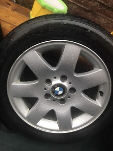 4 BMW Rims and Tires