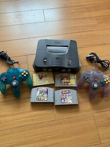 Nintendo 64 (N64) with Games and Two Controllers