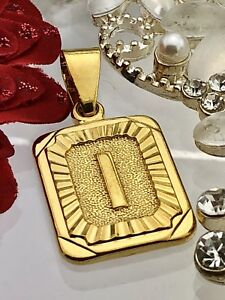 New! Gold coloured initials letter I pendant charm
