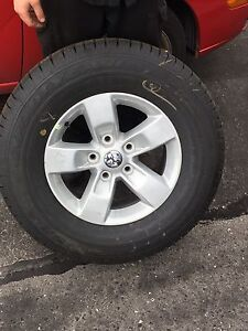 Brand new 2017 Dodge Ram tires and rims