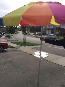 Beach Umbrella with small table