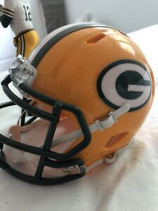 Green Bay Packers Mini Helmet and Aaron Rodgers Figure