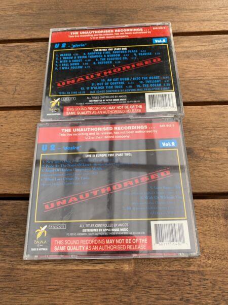 U2 CDs- live albums - rare 2 for $15 or $10 each   CDs